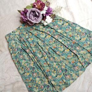 NWOT LuLaRoe Madison Pleated Skirt Fruit Pattern